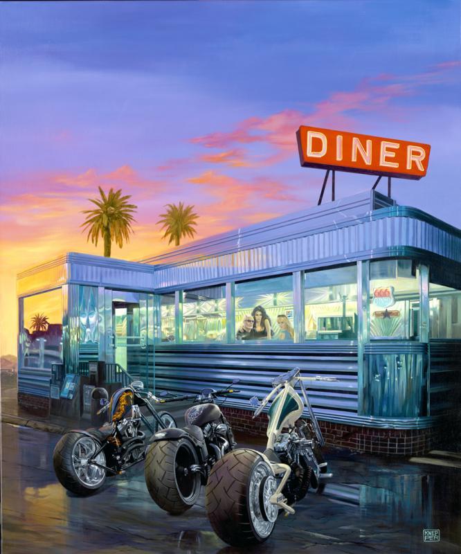 Diner limited editions all artwork michael knepper for Diner artwork